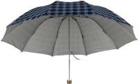 KEKEMI UMB016E 3 Fold Check Windproof Travel Umbrella(Multicolor)