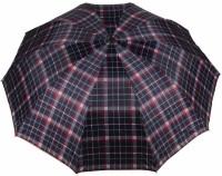 KEKEMI UMB016C 3 Fold Check Windproof Travel Umbrella(Multicolor)