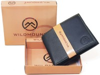 Wildmount Men Black Genuine Leather Wallet(7 Card Slots)