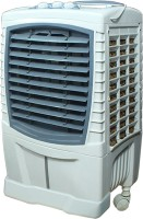 View QUBIFT COOLEST_85_LTR AIR BOOSTER Tower Air Cooler(Brown, 85.0 Litres) Price Online(QUBIFT)