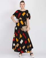 Kannan Women Fit and Flare Multicolor Dress