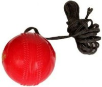UnyBuy Hanging Ball Knocking+Stroke Practice Synthetic Ball Cricket Training Ball(Pack of 1, Red)