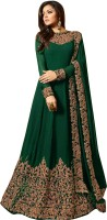 Fashionuma Poly Georgette Embroidered Salwar Suit Material(Semi Stitched)