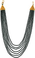 Weldecor Seven Layer Color Crystal Beads Necklace Jewellery for Women and Girls Crystal Necklace