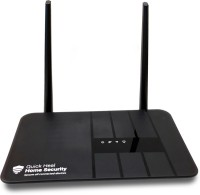 Quick Heal HNSA 300 Mbps Router(Black, Single Band)