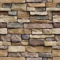 Univocean Modern Brick Stone Style Rustic Effect 3D Wall Poster, Wallpaper(Multicolor)