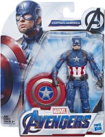Marvel Avengers End Game Captain America 6-Inch-Scale Super Hero Action Figure Toy(Multicolor)