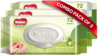 Huggies Baby Wipes - Cucumber & Aloe, Pack of 3 (216 wipes)(216 Pieces)