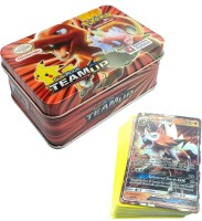 AncientKart Pokemon New Generation Team Up Detective Pikachu Series Tin with cards(Multicolor)