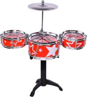 Mickleys Jazz Drum Set for Kids with 3 Musical Drum, 2 Drum Sticks and 1 Band Stand(Multicolor)