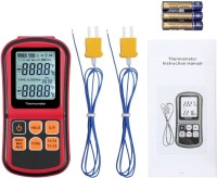 Divinext -200°C to 1372°C Digital Thermocouple Thermometer Two Way External Dual 2 Channel Temperature Input Probe Double display with backlight Thermometer(Multicolor)
