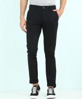 Van Heusen Sport Tapered Men Black Trousers