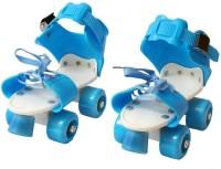 M-Alive Quad RollerSkates with front break adjustable size for kids age 5-12 years Quad Roller Skates - Size 4 UK(Blue)