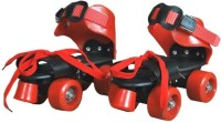 live sports Skates Shoes For Kids / Childrens - UNISEX In-line Skates Quad Roller In-line Skates - Size 5-12 UK(Red, Black)