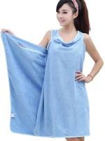 KPS Blue Medium Bath Robe(1x Bath Towel, For: Women, Blue)