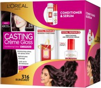 L'Oreal Paris Casting Creme Gloss Hair Color with Total Repair Conditioner and Serum(Set of 3)