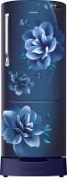 SAMSUNG 230 L Direct Cool Single Door 3 Star Refrigerator with Base Drawer(Camellia Blue, RR24R285ZCU/NL)