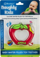naughty kidz PREMIUM WATER FILLED TOY TEETHER APPLE SHAPE WITH RING KEY TEETHER Teether(Red)