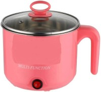 Skyline Stainless Steel Electric Cooker with Rice Cooker Soup Egg Cooker, Egg Boiler, Rice Cooker(1.5 L, Pink)