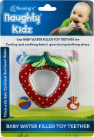 naughty kidz PREMIUM WATER FILLED TOY TEETHER STRAWBERRY SHAPE WITH RING KEY TEETHER Teether(Red)