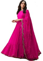 color bucket Georgette Embellished Salwar Suit Dupatta Material(Semi Stitched)