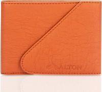 ALTON Men Brown Genuine Leather Money Clip(10 Card Slots)