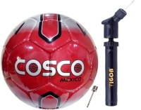 COSCO Football & Dual Action Pump-Needle Football - Size: 5(Pack of 2, Multicolor)