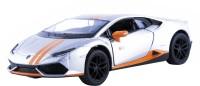 Miss & Chief Kinsmart Licensed 5'' Lamborghini Huracn LP610-4 Avio Matte Die Cast Car(Silver)