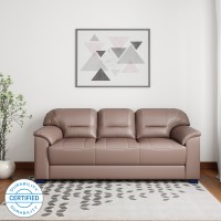 Muebles Casa Croma Leatherette 3 Seater  Sofa(Finish Color - Tan Brown)