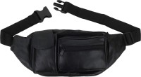Style 98 Black Pure Leather Stylish Waist/Multipurpose Bag Multipurpose Bag waist pouch(Black)