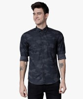 Highlander Men Printed Casual Blue Shirt