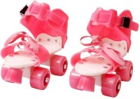 Elektron Children - UNISEX (PINK) In-line Skates Quad Roller Skates for kids Quad Roller Skates - Size 16-22 UK(Pink)