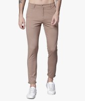 Highlander Slim Fit Men Beige Trousers