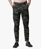 Highlander Tapered Men Green Trousers