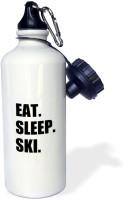 3dRose Eat Sleep Ski - skiing enSports Water Bottle 600 ml Bottle(Pack of 1, White)