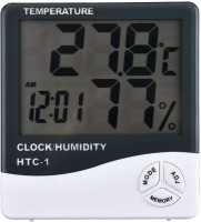 Bruzone Premium HTC1 TC-1 LCD Display Thermometer Hygrometer Indoor Electronic Temperature Humidity Meter Thermo Hygro Clock Digital Room Wall Thermometer Thermometer(White, Black)
