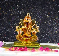 craftfry Ganesha Idol for Decorative Showpiece  -  6 cm(Glass, Gold)