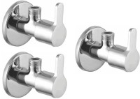 Prestige Angle Cock Flora Brass Chrome Plated Set of-3 Angle Cock Faucet(Wall Mount Installation Type)