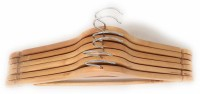 Sauran Wooden Pack of 6 Cloth Hangers(Yellow)