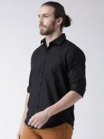 BEST BRAND Men Solid Casual Black Shirt