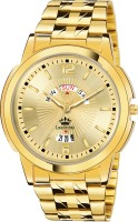 LIMESTONE LS2811 Day & Date Original Gold Plated Quartz Analog Watch  - For Men