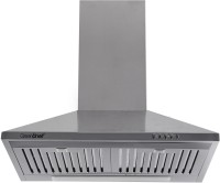 Greenchef Akeno 60cm Wall Mounted Chimney(SIlver 880 CMH)