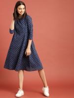 Taavi Women A-line Blue Dress