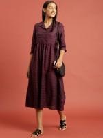 Taavi Women A-line Purple Dress