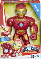 SUPER HERO ADVENTURES Marvel Mega Mighties Iron Man Collectible 10-Inch Action Figure, Toys for Kids Ages 3 and Up(Multicolor)