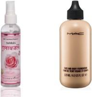 Sah&Shi Rose Water Spray & Mac Face & Body Foundation(Set of 2)
