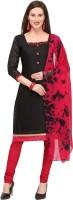 EthnicJunction Cotton Solid, Dyed, Self Design Kurta & Churidar Material(Unstitched)
