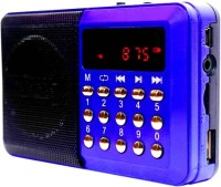 CRETO OD-SM305 Multimedia Speaker with Rechargeable Lithium Battery Support Headphone Out & USB FM Radio(Blue)