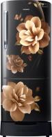 SAMSUNG 212 L Direct Cool Single Door 3 Star Refrigerator with Base Drawer(Camellia Black, RR22R383ZCB/HL)
