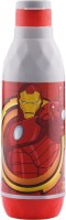 SKI Cool Waves 600 Plastic Water Bottle With Avengers Art 550 ml Water Bottle(Set of 1, Red)